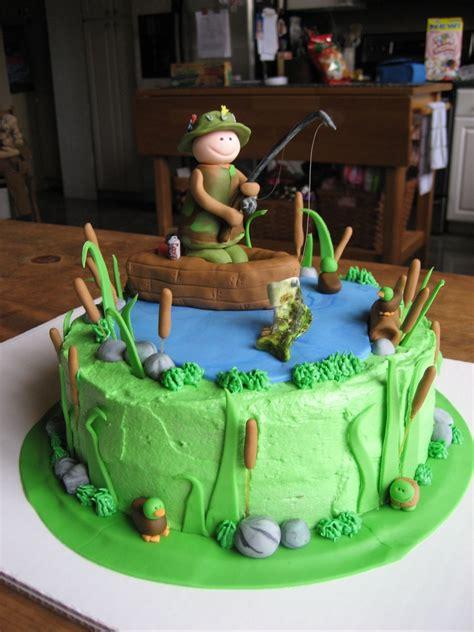 fishing boat cake decorations fishing birthday cake 9 quot round cake with buttercream