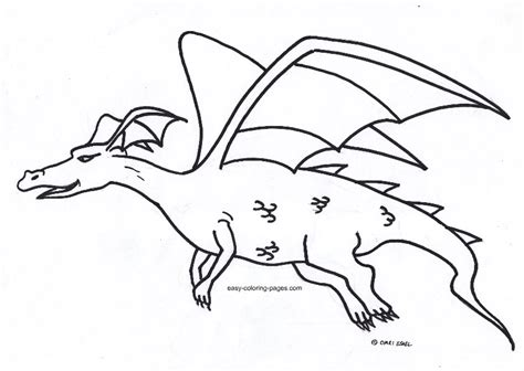 dragon for coloring az coloring pages