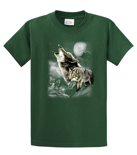 Wolf T Shirt Meme - wolf t shirt wolves in the wild howling ebay
