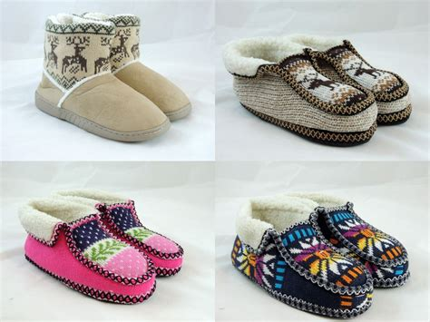 winter house slippers women s unisex warm winter comfortable booties house slippers shoe ebay