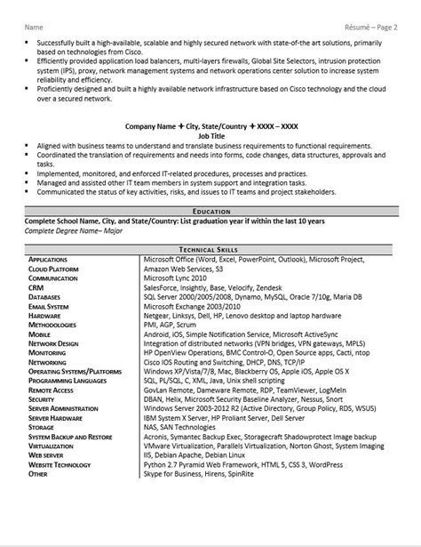 It Security Resume Resume Ideas It Security Resume Template