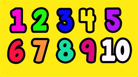 one to ten and learning to count numbers 1 to 10 easy fun learning english numbers youtube