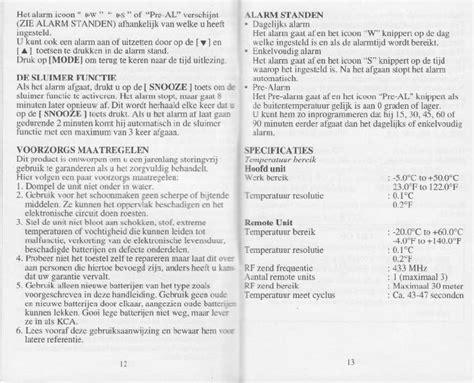 handleiding cresta atomic clock pagina  van   mb