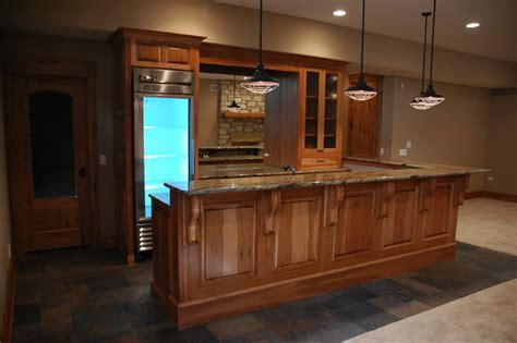 basement kitchen cabinets hickory cabinets