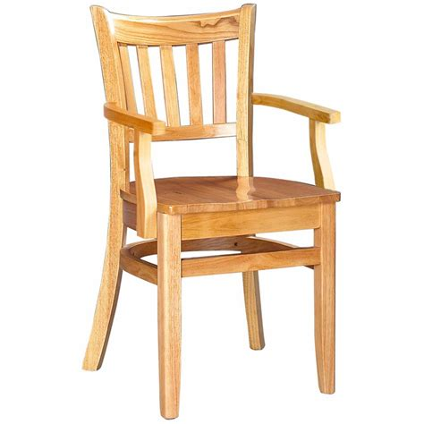 Restaurant Dining Chair Wood Vertical Slat Restaurant Dining Chair With Arms