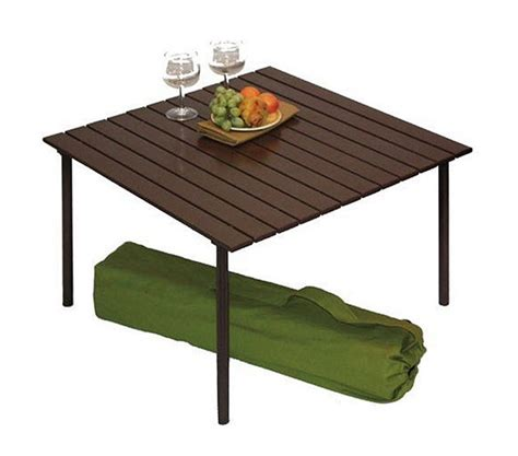aluminium roll up table cing boondocking picnic table mod jayco rv owners forum