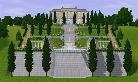 House Plan Creator Mod The Sims Versaillesque A Summer Palace