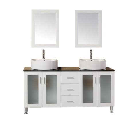 home depot design element vanity design element malibu 60 in w x 22 in d double vanity in
