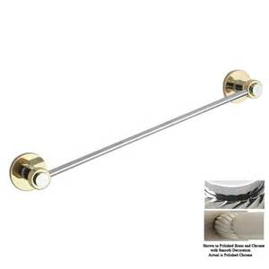 chrome and brass towel bars shop allied brass mercury polished chrome single towel bar