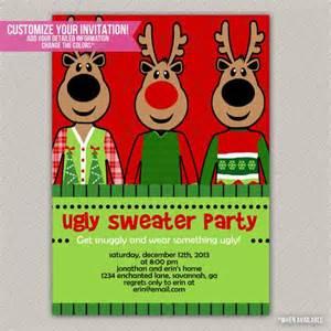sweater tacky sweater invitation diy p