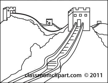 Great Wall Of China Map Outline by Architecture Great Wall Of China Outline 122012 Classroom Clipart