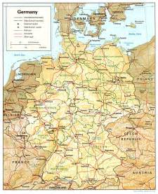A Map Of Germany by Germany Maps Perry Casta 241 Eda Map Collection Ut Library