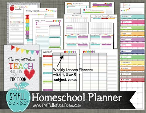 homeschool lesson planner book homeschool planner printable set sized by polkadotposieprint