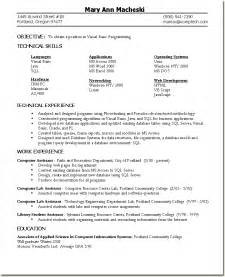 Skill Based Resume Sles by Skill Based Resume Sle Programmer