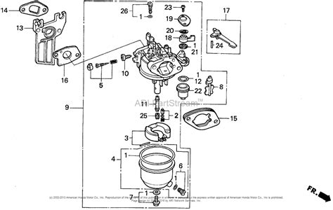 honda gx120 parts diagram honda engines gx120k1 qx2 engine jpn vin gc01 2000001