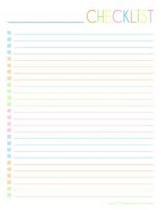 printable checklist template 25 best ideas about checklist template on