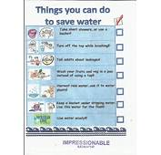 Water Conservation  Using Wisely Impressionable