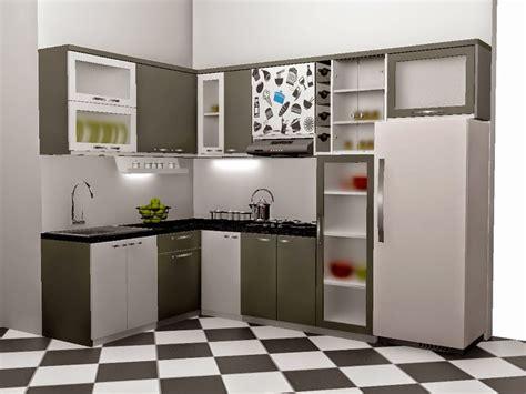 gambar kitchen set minimalis terbaru 2017 ukuran kecil