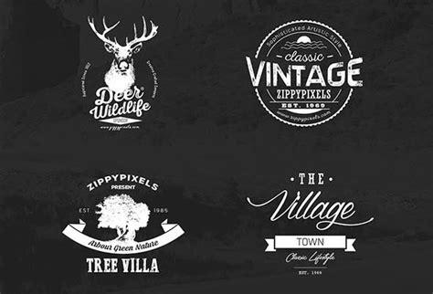 vintage logo design photoshop 20 free vintage logo kits