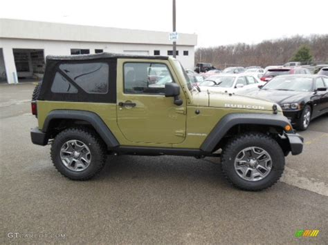 green jeep rubicon commando green 2013 jeep wrangler rubicon 4x4 exterior