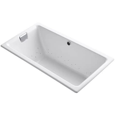 cast iron drop in bathtub kohler tea for two 5 5 ft cast iron rectangular drop in