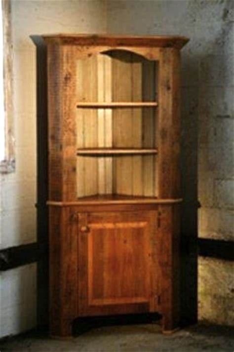 Custom Corner Cabinet by Rustic Corner Cabinet From Reclaimed Wood Ecustomfinishes