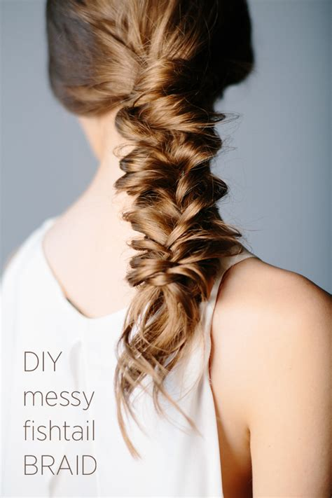 diy messy fishtail braid diy weddings oncewed com