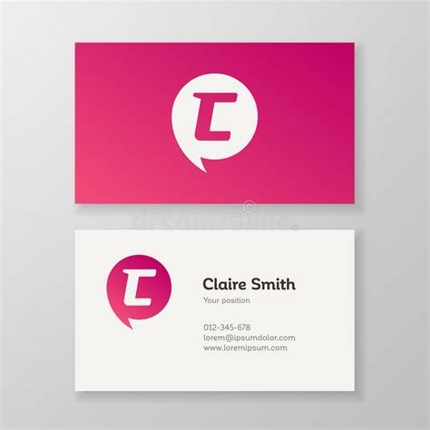 business card template us letter svg modern letter c in speech business card template