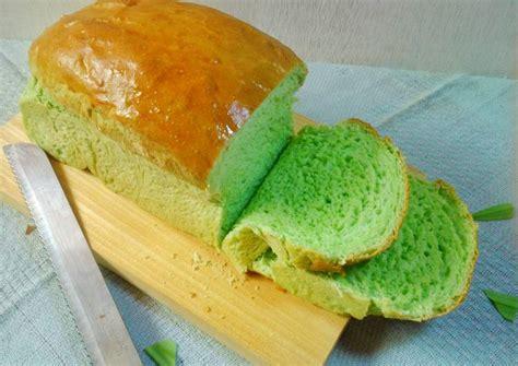 membuat roti tawar pandan resep killer soft bread pandan roti tawar pandan oleh