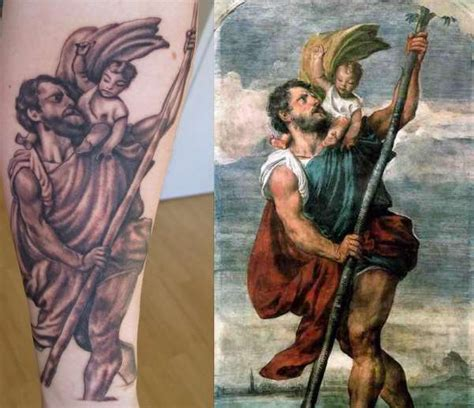 saint christopher tattoo amazing st christopher s search new tat