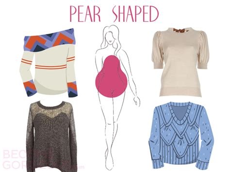 clothes for pear shaped how to pick a dress for your how to choose the right sweater for your body type