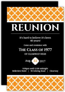 reunion invitation card templates reunion invitations