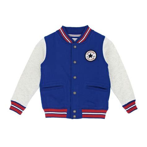 Jaket Converse Blue converse varsity jacket converse blue free uk delivery