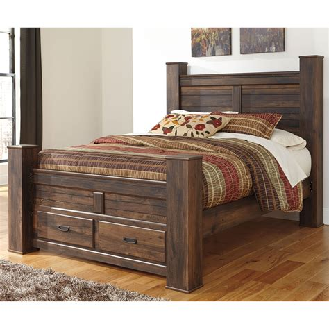 ashley beds ashley quinden queen poster bed with storage beds home