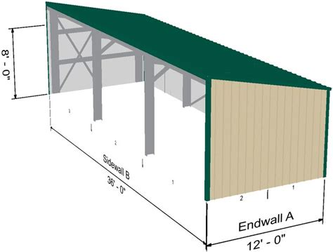 equipment shed extension  metal building  living