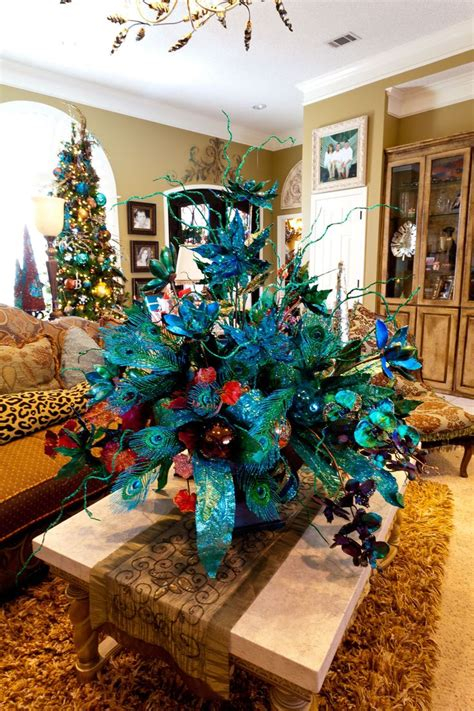 ideas  peacock christmas tree  pinterest