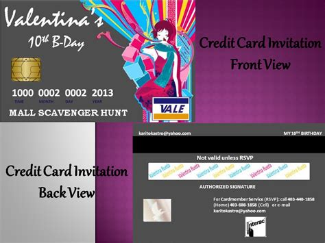 Credit Card Invitation Letter Utopia Decor Cards And Invitations