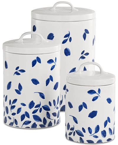 martha stewart kitchen canisters martha stewart collection 6 pc stockholm lidded canisters set created for macy s dinnerware
