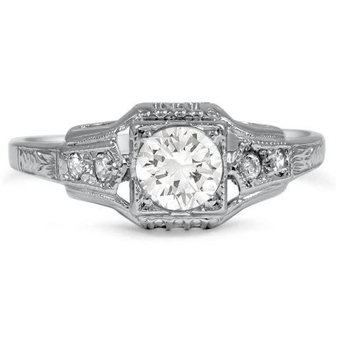 art deco diamond vintage ring meghan brilliant earth