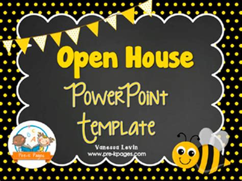 bee open house powerpoint pre k pages