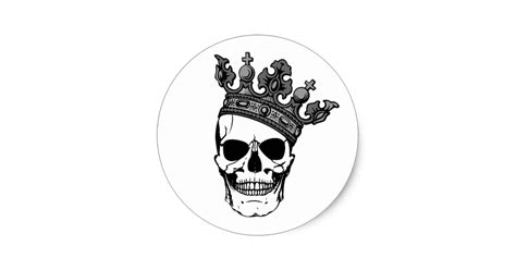 Create Your Own Wall Stickers skull king classic round sticker zazzle