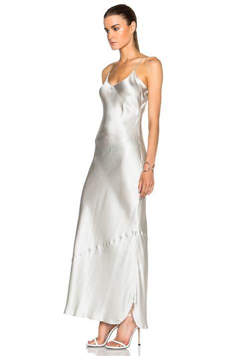 Gray Silk Dress 20738gym nili lotan cami silk dress in gray lyst