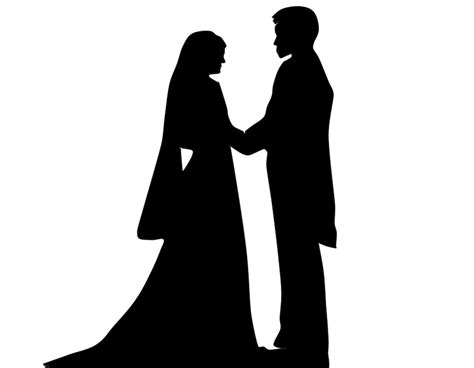 Wedding Siluet by Free Illustration Marriage Shadow Silhouette Casal