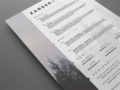 photoshop templates for photographers free modern swiss style resume cv psd template cursive