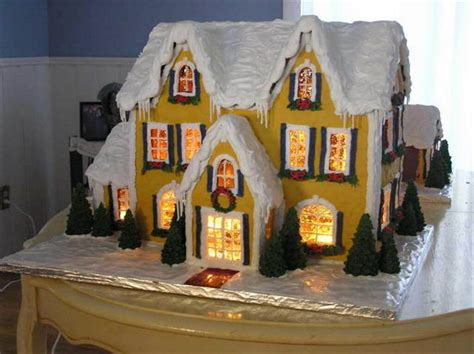 Detailed Instructions For Making A Lighted Gingerbread Lights Gingerbread House