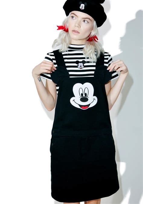 Dress Micky lazy oaf x disney mickey mouse pinafore dress dolls kill