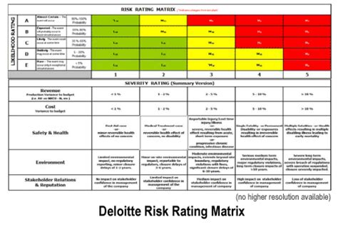 business risk rating matrix