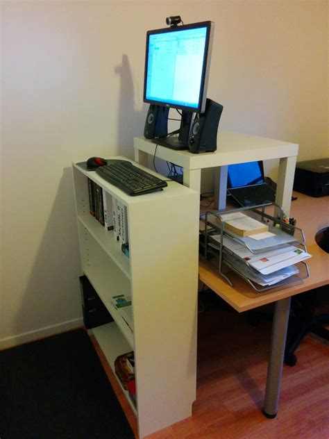 build a standing desk make your own standing desk homesfeed