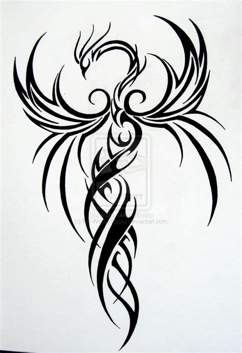 simple phoenix tattoo designs designs by barry maynard