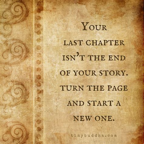 A New Chapter turn the page and start a new chapter tiny buddha